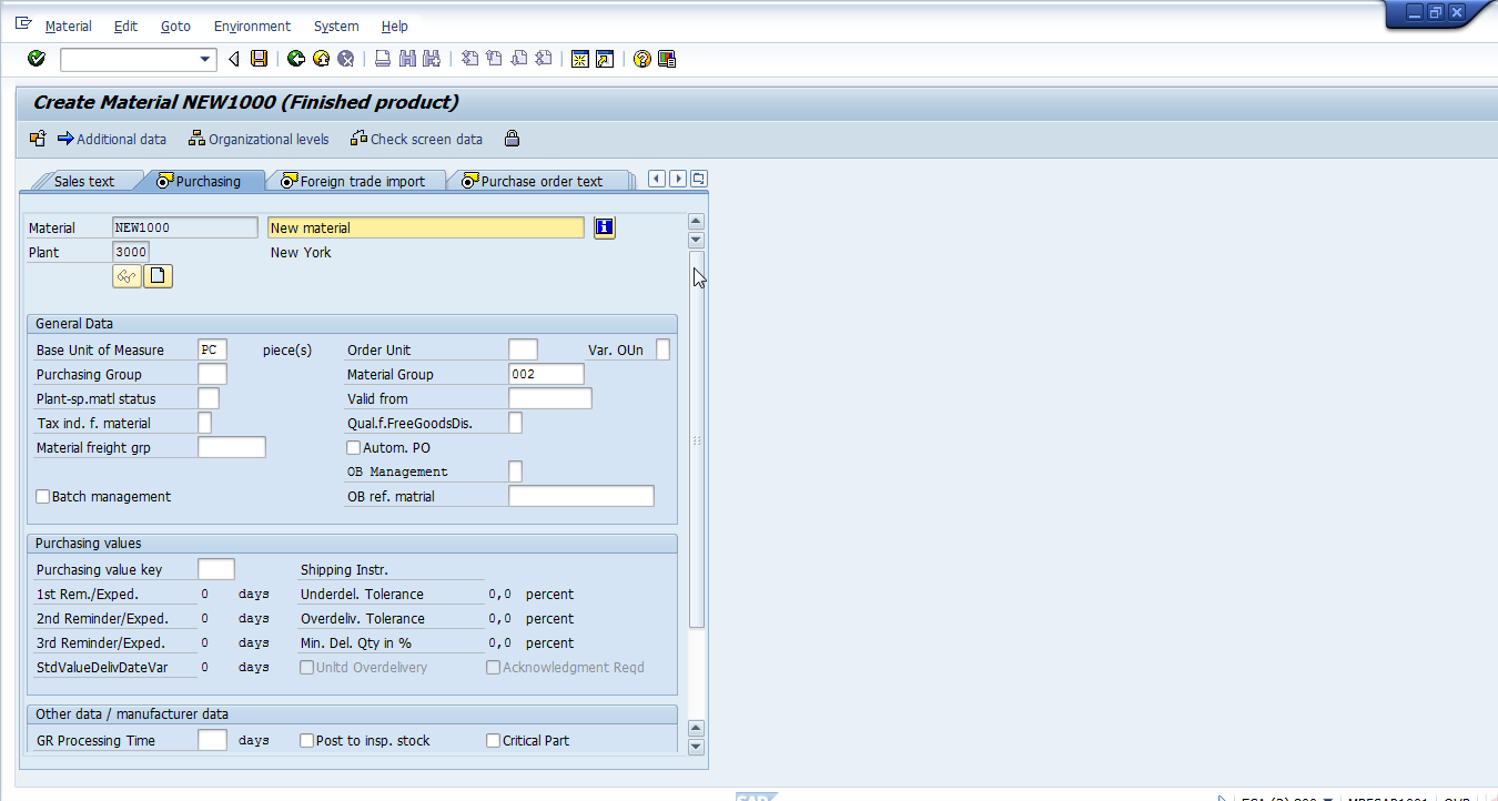 Purchasing group in SAP - [New Simple As Possible ERP]